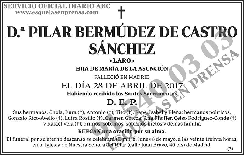 Pilar Bermúdez de Castro Sánchez
